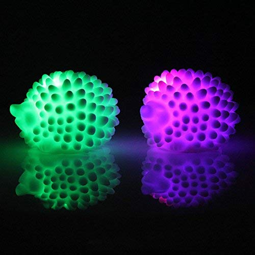 Hanbaili 1 pcs LED Colorful Glowing Hedgehog Night Night Lamps,Single one (Color Random)