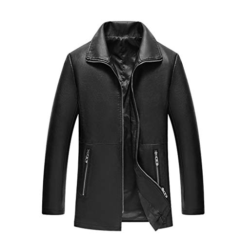 Mens Leather Jacket heren zwart outdoor casual lederen jas motorfiets slim fit racing biker trenchcoat mannen bruin modern business blazer top