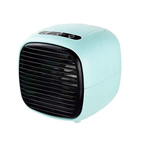 Zilosconcy Klimaanlage Mobil USB Mini-Luftkühler Tragbarer Desktop-Lüfter Klimaanlagen-Lüfter für Schlafzimmer Wohnzimmer Büro Reise (negatives Ion plus Nebel)