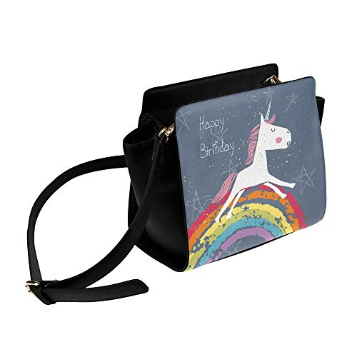 Rtosd Womens Bag Alles Gute zum Geburtstag Cute Funny Card Umhängetasche Umhängetaschen Reisetaschen Seesack Umhängetaschen Gepäck Für Lady Girl Women Laser Umhängetasche