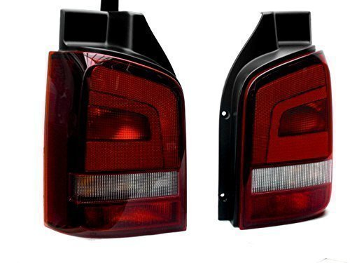 Original Volkswagen VW Ersatzteile T5 Facelift Rückleuchten Set, abgedunkelt,, Original, Multivan, Transporter, Bus