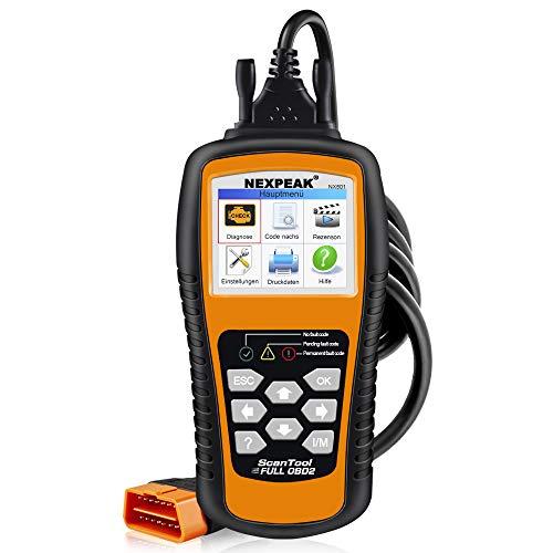 NEXPEAK OBD2 Diagnosegerät, OBDII NX501 KFZ-Fehlercode-Lesegerät Motorlichtscangerät für die meisten OBD2 Protokoll Fahrzeuge seit 2003