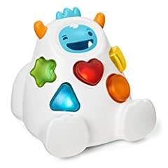 Teaches shapes and colors at playtime and helps develop fine motor skills, problem-solving, and cause and effect. Includes three stages of learning & play as well as 50 songs, sounds and phrases! Stage 1 (exploration): shape pieces light up when pres...