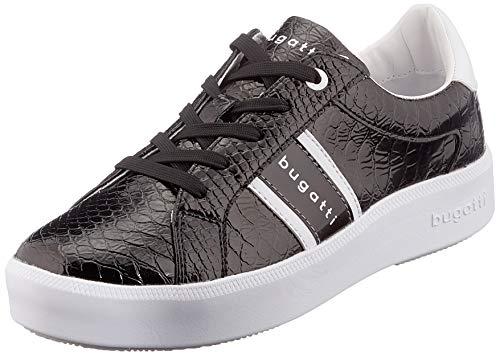 bugatti Damen 4314071B5950 Sneaker, Schwarz (Black/Reptile Print 1083), 39 EU