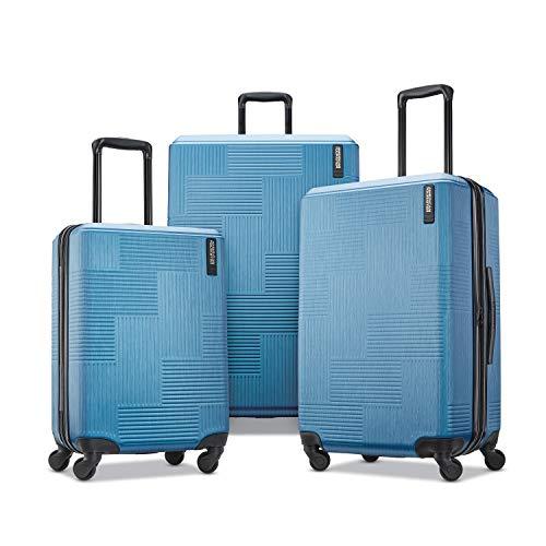 American Tourister Stratum XLT – veliz con ruedas giratorias, Juego de 3 piezas, Azul (Spruce), 3-Piece…
