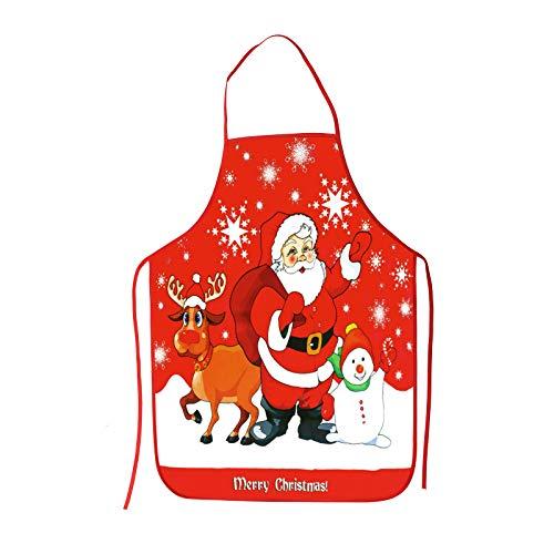 CINMOK Weihnachtsmann Schürze Weihnachten Kochschürze Lustig Küchenschürze Schneemann Latzschürze Grillschürze Backschürze Xams Apron für Weihnachtensfeiern Chef Damen Männer Erwachsene Kinder