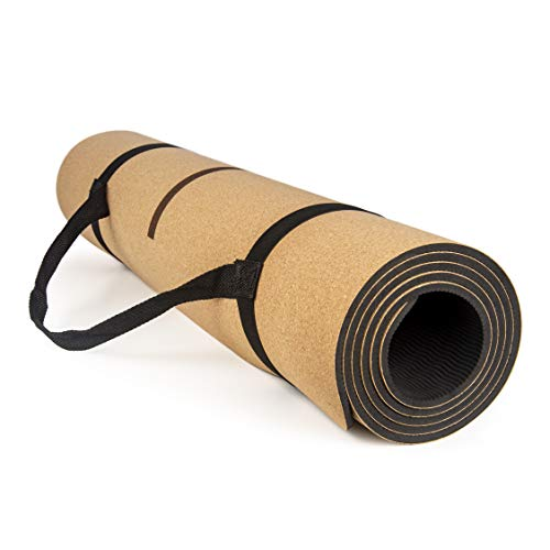 Plava   Cork Yoga Mat 6mm Thick   Non-Slip Eco Friendly Fitness Exercise Mats with...