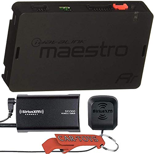 Maestro ADS-MRR Music Lover's Bundle with SiriusXM Satellite Radio Tuner for Car Stereo. Universal Radio Replacement and Steering Wheel Interface Retains Factory Features, Displays Performance Data