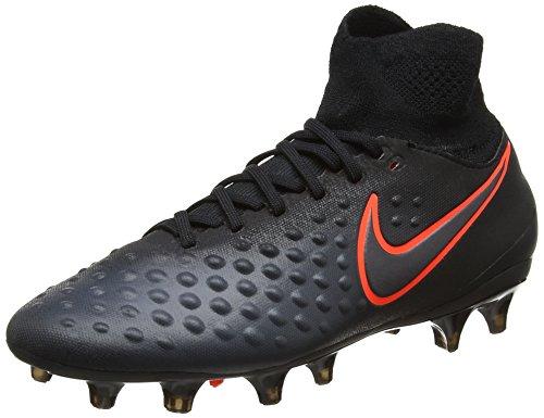 Nike Unisex Magista Obra II FG Fußballschuhe, Schwarz (Black/Total Crimson), 38 EU