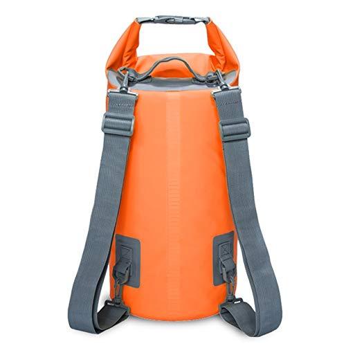 WakaHa - Mochila de viaje para actividades al aire libre, impermeable, doble correa para el hombro, bolsa seca, capacidad: 5 l (color: naranja)