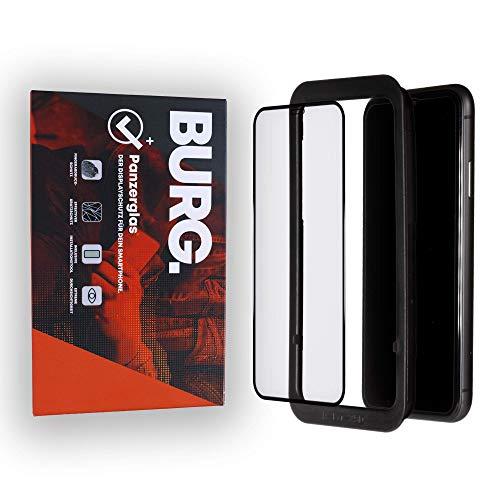 BURG. PREMIUM 3D Panzerglasfolie Displayschutz für iPhone XR/iPhone 11 - mit Installationsschablone - Handy-Hülle kompatible Schutzfolie Folie