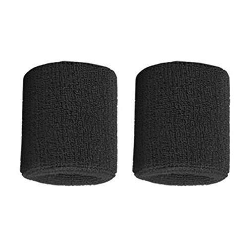 Gugutogo 1 Pair Pure Cotton Wristbands Soft Wrist Guard Support Bands Wrist Bands Sport Sweatbands for Playing Basketball Tennis