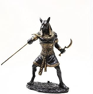 PTC 10 Inch Seth Fighting Warrior Egyptian Mythological Statue Figurine,Black and Gold