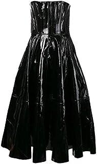 LUST FOR PELLE senza spalline mini abito da donna
