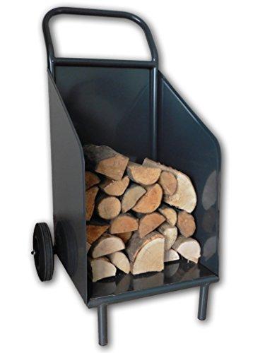 Brandhoutwagen - Brandhoutkar voor brandhout EuroLiving - Kleur: Zwart