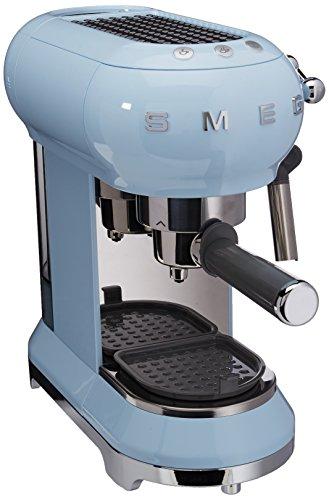 Smeg ECF01PBEU Máquina de Café Expreso, 1300 W, 1 Liter, Acero Inoxidable, Azul Pastel