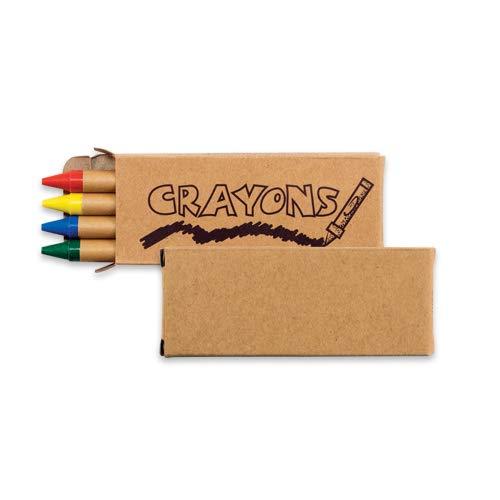 Natural 4-Pack Crayons in Box - 100 Packs