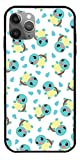 NHTEE Case Compatible with iPhone X Pokemon Go Squirtle Pattern 3D Cartoon Funny Character Cute Animal Pure Clear Glass Phone Cases Cover Full Body