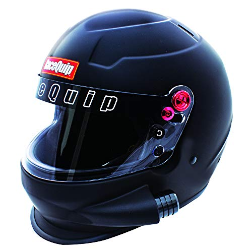 RaceQuip Side Air Full Face Helmet PRO20 Series Snell SA2020 Rated Flat Black X-Large 296996