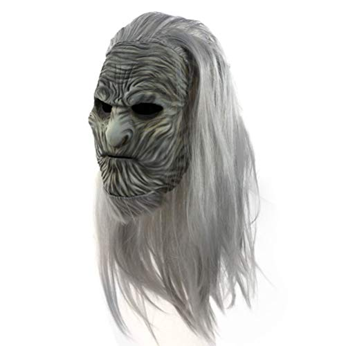 zuoshini Máscara De Látex Rey De La Noche Zombie Máscara De Caminante Blanco Máscara De Night King Máscara De Disfraces De Halloween Accesorio Novedad De Disfraz De Fiesta De Halloween