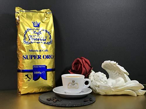 Caffé Veronesi - Super Oro 1Kg italienische Espresso Bohnen Säurearm dunkel geröstet   Aroma Mild & Fruchtig ohne Säure   Espresso Crema mit Barista Qualität   Slow Roasted im Familienunternehmen