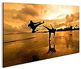 islandburner Bild Bilder auf Leinwand Kung Fu am Strand