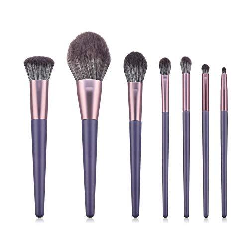 LDLCX Pinceaux De Maquillage, Ensemble De Pinceaux De Maquillage De 7 Pièces, Pinceau Pour Blush À Poudre En Poudre Pourpre L-205C