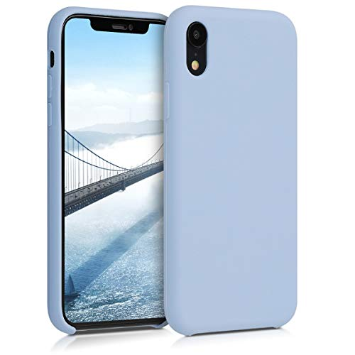 kwmobile TPU Silicone Case for Apple iPhone XR - Soft Flexible Rubber Protective Cover - Light Blue Matte