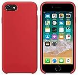New Phoone - Funda de Silicona iPhone | Funda de iPhone 7 - Funda iPhone 8 o Funda iPhone SE 2020 - Funda Ligera con Tacto Suave, Resistente y Antigolpes de Color Rojo