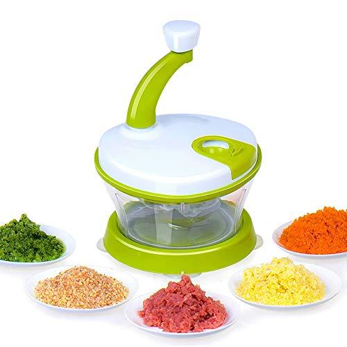 Wmeat Picadora de Verduras, Procesador de Alimentos Batidora de Huevo, Frutos Secos Ensalada de cebollas Carne Ajo
