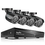 SANNCE 8CH DVR Système 1080P kit de Surveillance 5-en-1 Enregistreur No HDD avec 4 Caméra de Vidéosurveillance 2MP intérieur/extérieur,détection de Mouvement pour la Maison