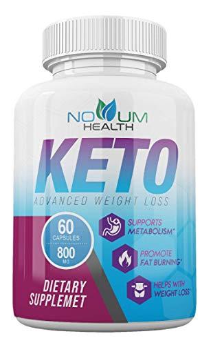 Novum Health Keto Pills, Novum Keto Advanced Weight Loss Pills 800 mg - 60 Capsules - 1 Month Supply
