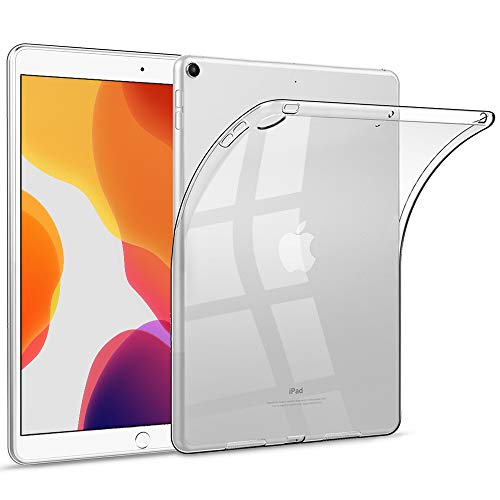 HBorna Case for New iPad 7th Generation 10.2' 2019, Transparent Soft Back Cover, Slim Lightweight Clear Silicone Case Compatible for iPad 10.2 inch (2019 Release)