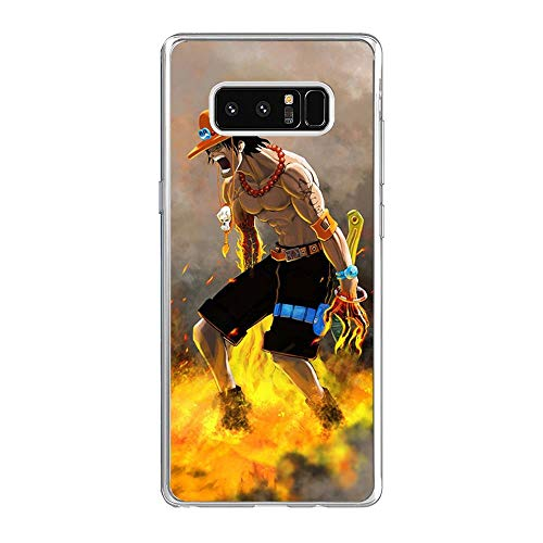 Be-better Case for Samsung Galaxy Note 8, One-Piece Anime-Luffy 8 Ultra Clear Coque Thin Soft TPU Rubber Anti-Slip Phone Cover