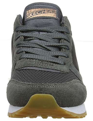 Skechers Retros-OG 85-Goldn Gurl, Zapatillas, Negro (CCL Black Suede/Nylon/Mesh/Rose Gold Trim), 35 EU