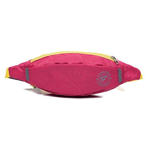 Poches de Course à Pied Fitness Ceinture de course à pied d'équitation waistpacks pour les activités en extérieur Rose rouge