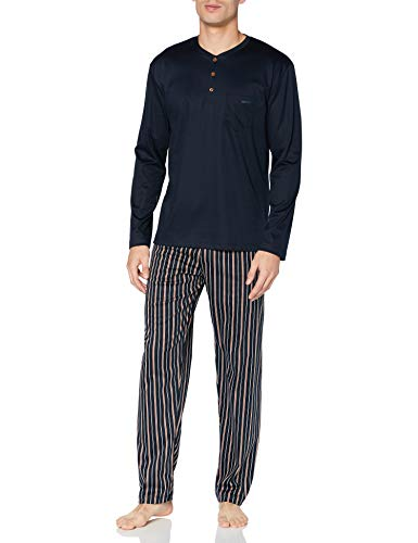 CALIDA Herren Relax Selected 5 Pyjamaset, Dark Sapphire, L