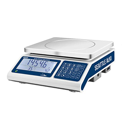 Seattle Alki Scientific Industrial Counting Scale   Digital Balance with 30kg Capacity & 0.5g Accuracy   Electronic Gram Scale Counts and Weighs Small Parts in Seconds   by Fristaden Lab
