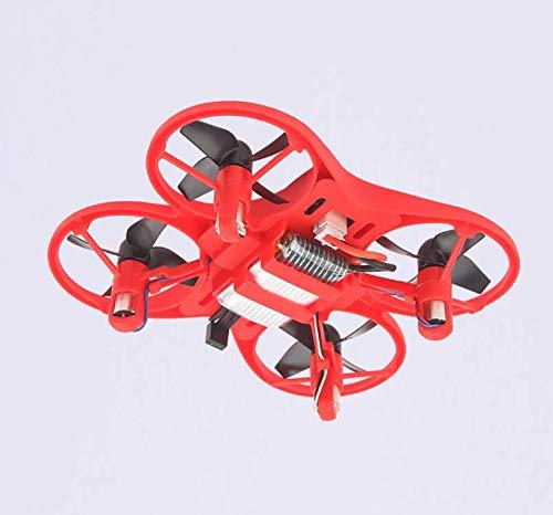 SDGSGSGDF Widerstand zu Fallen Mini-Fernbedienung Flugzeug Tasche vierachsigen Flugzeug Spielzeug Drohne Modell Hubschrauber rot