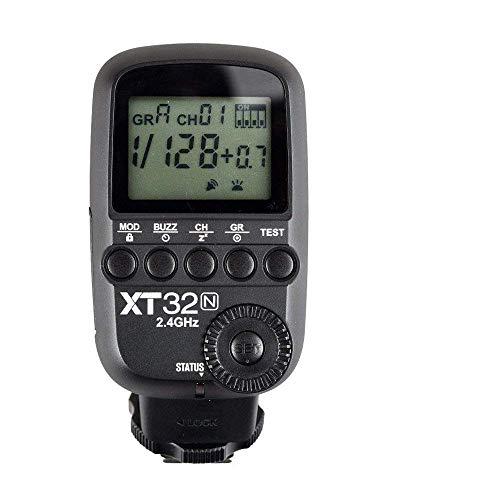 Godox XT32-N XT32N 2.4G Wireless Power-Control Trigger flash, sincronizzazione ad alta velocità 1 / 8000s, 32 canali 16 gruppi per fotocamera Nikon +