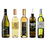 White Wine Sampler - Five (5) Non-Alcoholic Wines 750ml Each - Featuring Ariel Chardonnay, Le Petit Chardonnay, Cardio Zero White, Bianco Dry, and Tautila Blanco