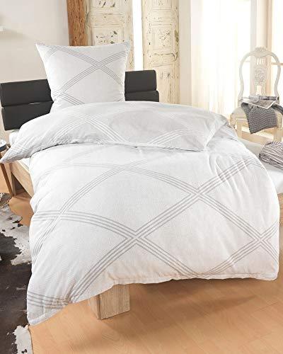 DreamHome 2 teilige kuschelige Baumwolle Soft Fein-Biber Bettwäsche 135x200 + 80x80 Kissenbezug, warme Winter Bettbezug für Bettdecken, Größe:135x200 + 80x80, Design - Motiv:Design 1