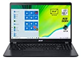 "Foto Acer Aspire 3 A315-54-33SG Pc Portatile, Notebook, Processore Intel Core i3-10110U, RAM 8 GB DDR4,256GB PCIe NVMe SSD,Display 15.6"" FHD LED LCD,Scheda Grafica Intel UHD,Windows 10 Home in S mode, Nero"
