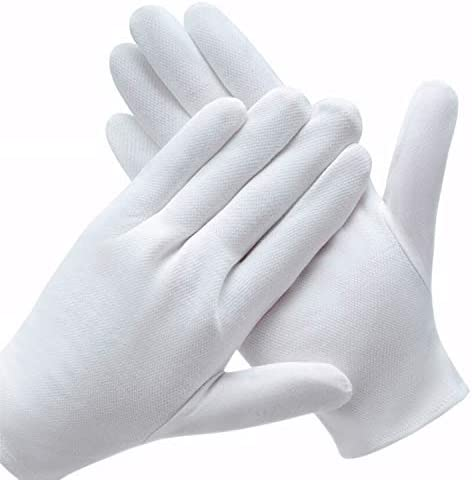 6 Pairs White Cotton Gloves for Dry Hands SPA Gloves Inspection Gloves product image
