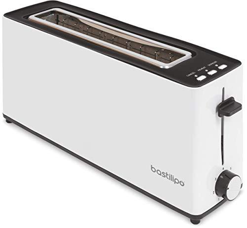 Bastilipo - Firefox - AB900 - Tostador - Tostadora Ranura larga para dos rebanadas de 900W de potencia - función descongelar - Bandeja recogemigas (2130)