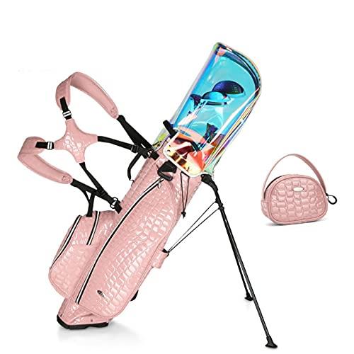 ZQYR Conveniente, Bolsa de separación portátil Holeultralight Golf Bag con Soporte, Base Estable, Fuerte Estabilidad y Durabilidad 424 (Color : Pink)