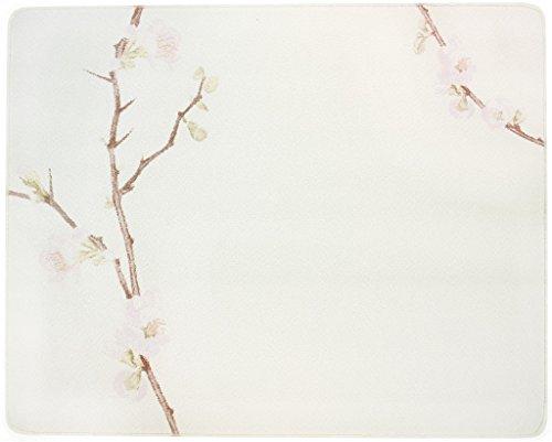 Corelle 91512CHEH Corelle Cherry Blossom 15 x 12' Counter Saver Tempered Glass Cutting Board