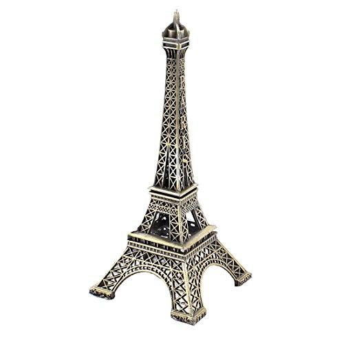 sourcing map 13 cm Bronze métal Paris Tour Eiffel modèle la décoration de la Maison