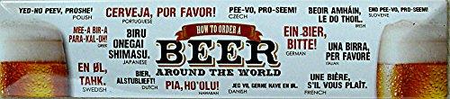 Beer Around The World Plaque de rue de magnétique en fer-blanc 16 x 3,5 cm Str M 55