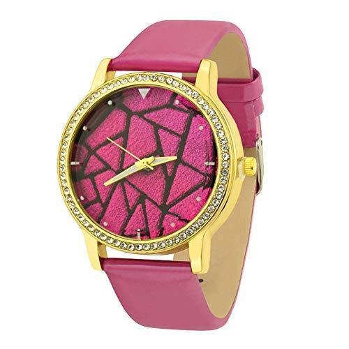 ZHAOSN Creative Grid Dial Damenuhren Romain Horloge Cadeau Quarz-Armbanduhr Montre Femme Clock Uhren para Mujer @ 50-Pink_China
